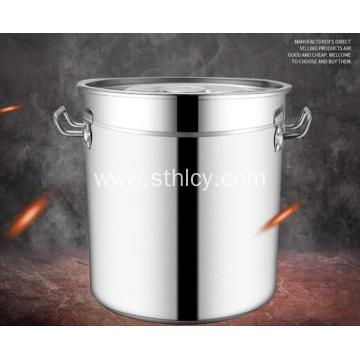 Stainless Steel Thickened Multi-purpose Soup Bucket With Lid