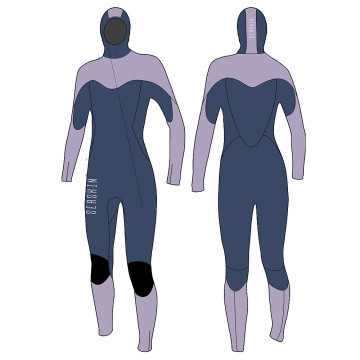Seaskin Hoodie Front Zip Full Wetsuits for Women