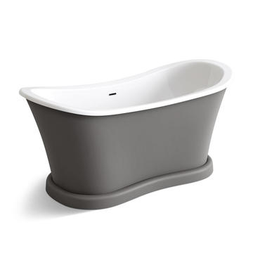 Grey New Style Clear Best Acrylic Freestanding Bathtub