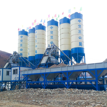HZS25 control system stationary concrete batching plant