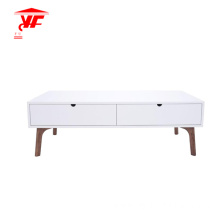 White Center Table Living Room Solid Wood