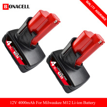 12V 6.0Ah Lithium-ion Battery Compatible with Milwaukee M12 XC 48-11-2420 48-11-2450 48-11-2460 48-11-2411 Cordless Tools L50