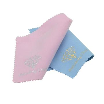 Personalized jugged edge jewelry cleaning cloth