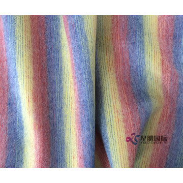 Woven Rainbow Stripe 100% Wool Fabric