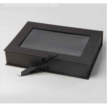 Black Ribbon Tied Gift Boxes For Hair Extension