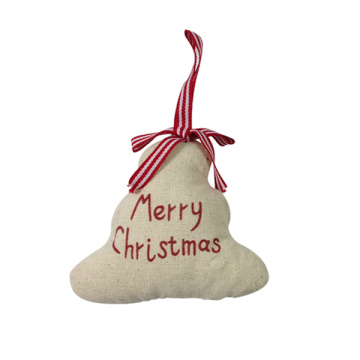 Christmas burlap 3D tree ornaments