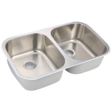 large 304 stainless steel double bowl sink