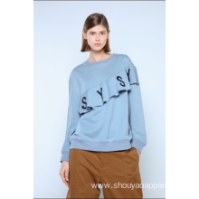 LADIES SWEATSHIRT WITH FRILLS