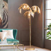 Retro floor lamp personality design floor lamp iron palm leaf shape floor lamp mall showroom lighting