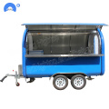 Tow-able mobile food carts trailer selling ice cream