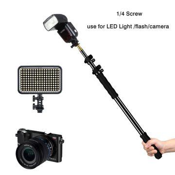 Aluminum Alloy Handheld Grip Rig Support Rod Photo Studio Accessories Holder for Speedlite/LED Flash Light Microphone Holder