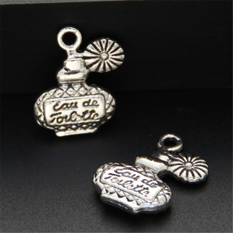 20pcs Silver Color Zinc Alloy Perfume Bottles Charms Diy Handmade Jewelry Findings Accessories A569
