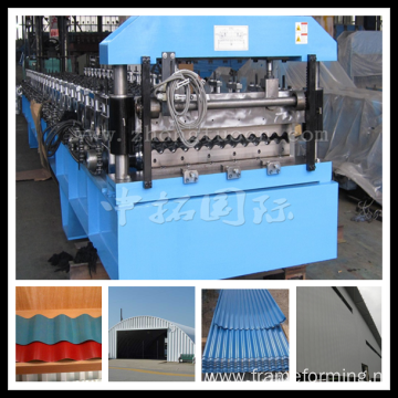 Aluminum Roofing Corrugating Roll Forming Machine
