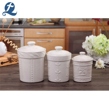 High Quality Heat Resistant Round Stoneware Airtight Coffee Canister