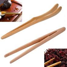 1pc 18cm Bacon Tea Utensil Sugar Bamboo Salad Tongs Kongfu Tea Wooden Tea Clip Food Toast Tea Tweezer #63