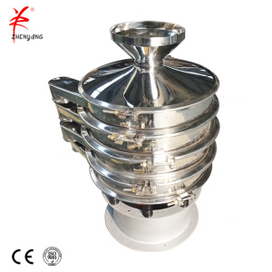 Liquid soil to vibrating sieve machine