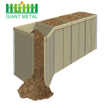 High Quality Sand filled gabion hesco blast wall