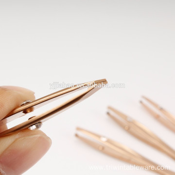 mini gold tweezers set