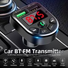 OLOMM Transmitter Car Bluetooth 5.0 FM Radio Modulator Car Kit 3.1A USB Car Charger Handsfree Wireless Aux Audio MP3 Player