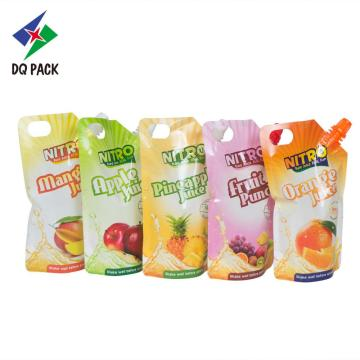 200ml juice packaging with spout, stand up pouch