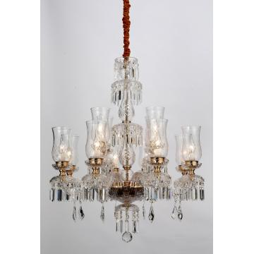 Golden Living Room Decoration Luxury K9 Crystal Chandelier