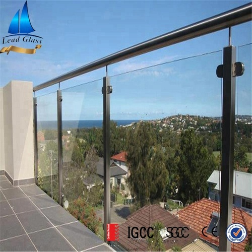 Custom Cut Balcony Tempered Glass Panels For Sale