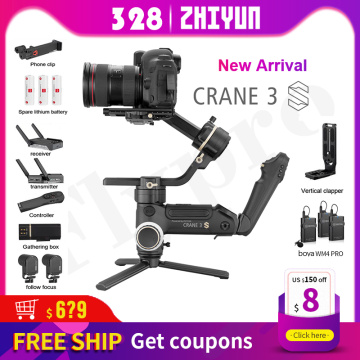 ZHIYUN Official Crane 3S-E/Crane 3S 3-Axis DSLR Camera Stabilizer Handheld Gimbal Payload 6.5KG for Video Camera New Arrival