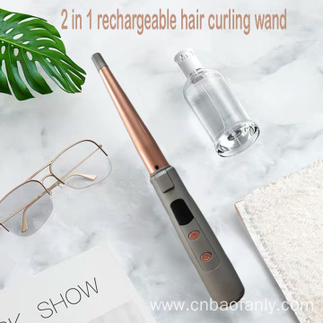 2 in 1 rechargeable hair curling wand