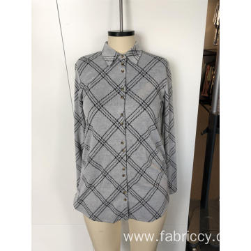 Grey temperament long sleeve shirt