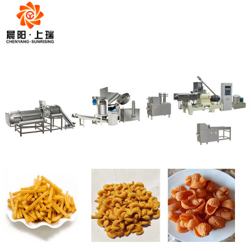 Doritos Slanty Snack Food Puffed Corn Extruder Machine