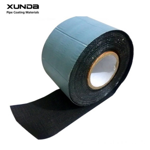 Black color PE bitumen tape for joint wrapping