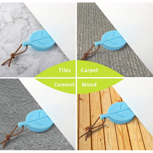 Cute Colorful Leaf Style Silicone Door Stopper