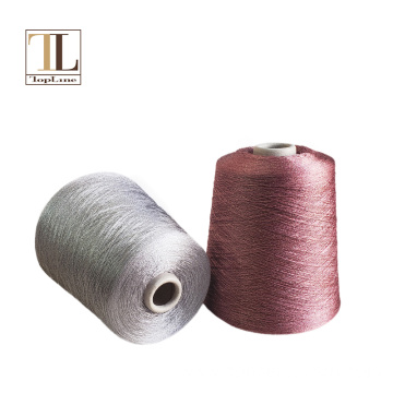 Topline fancy polyester viscose lurex yarn for knitting