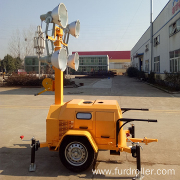 Mobile Portable Trailer Mounted Flood Light Tower For Outdoor FZMTC-1000B