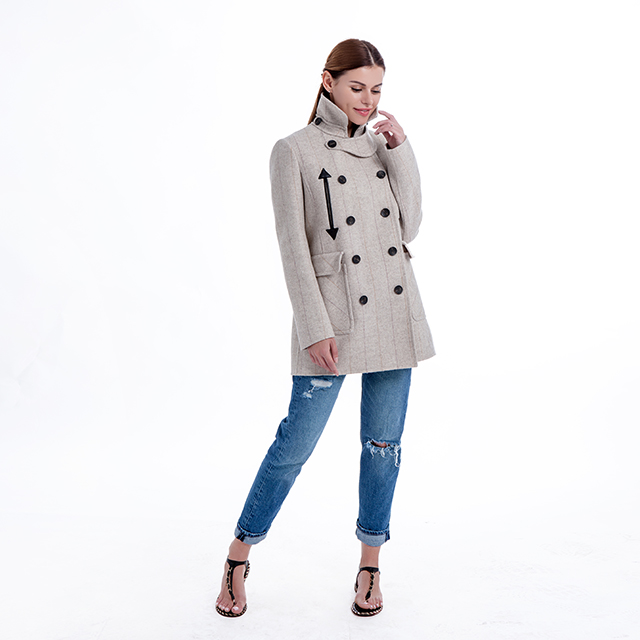 Plain Cashmere Coat