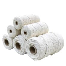 100% single twisted cotton rope for macrame rope