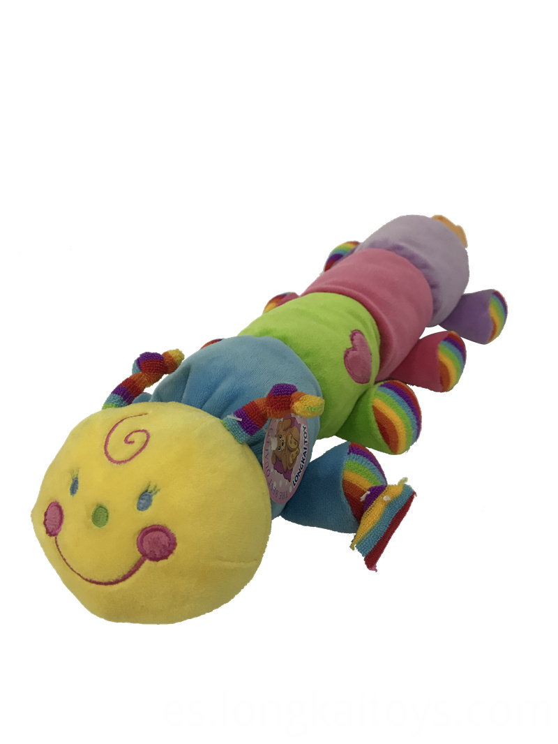 Colorful Plush Worm Toy
