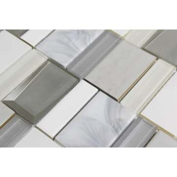 Variegated irregular luxury mosaic tiles