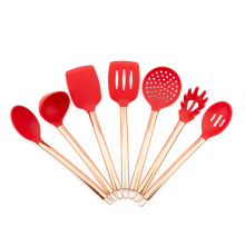 Garwin silicone kitchenware set with copper plated handles