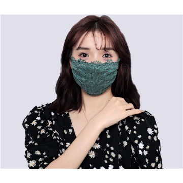 Elegant lace imitation silk mask