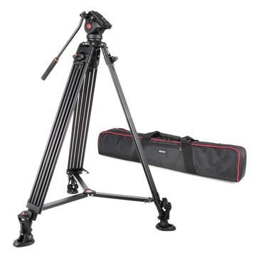 Viltrox VX-18M 1.88m Aluminum Professional Heavy Duty Video Camcorder Tripod with Fluid Head + Carry Bag for Camera DV