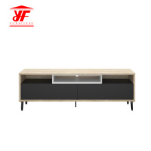 Modern Wooden Stainless Steel TV Stand Cabinet