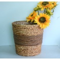 Multi-purpose Straw decorated collection basket