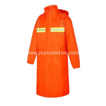 Long Sleeve Oxford orange reflective coverall