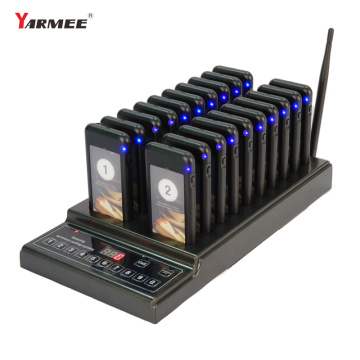 Restaurant Pager Wireless Call Pagers with 20 Receiver Support 999 Channel Calling Keypad Pager Restauran Queuing Calling System