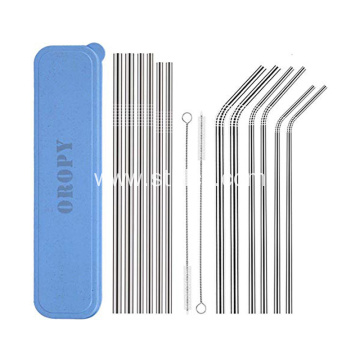 Stainless Steel Straws Reusable Durable Eco-Friendly Set