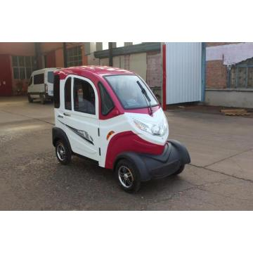 Rose red four-wheel electric car