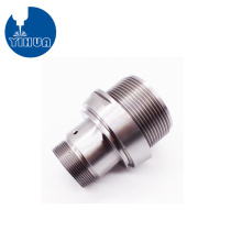 CNC Machined Sandblasted Stainless Steel Fitting Connector