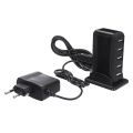New Arrival Portable 7 Port USB Hub High Speed USB 2.0 Dual Chip Splitter Adapter With AC Power Adapters For PC Laptop