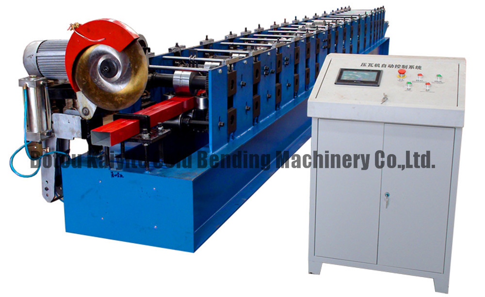 Hydraulic cutting round pipe Downspout roll forming machine